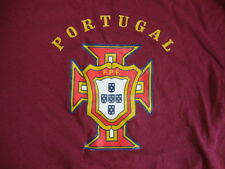 PORTUGAL F.PF. Metal Vacation Tourist Maroon T Shirt Mens Size S