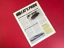ARCTIC CAT •  Vintage Cat's Pride Bulletin Poster Calendar Vol 4 1986 El Tigre