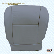 Driver Bottom Seat Cover Replacement Leather In Gray Fits 2005 Toyota Sequoia