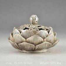 Chinese cupronickel  Vintage Hand Hammered Old Flower Incense Burner