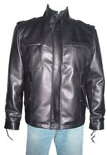 4XL Big Size 1160 Mens Clean Best Street Motocycle Leather Jacket Stylish Liner