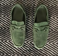 suede authentic gucci mens loafers shoes horsebit leather green 9.5