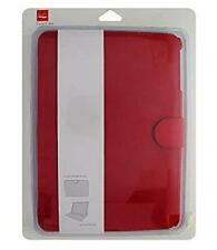 Verizon Folio Case For Samsung Galaxy Note 10.1 Red Tablet w Kickstand Magnet Cl