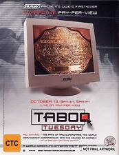 WWE - Taboo Tuesday DVD 2004 New Region 4 Sealed