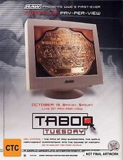 WWE - Taboo Tuesday DVD 2004 New Region 4 Sealed Wrestling