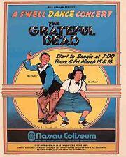 Vintage looking  Grateful Dead  1973 Concert Tour Poster   Long Island NYC