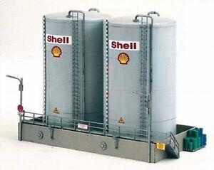 HO Scale Buildings - 61121 - Shell Storage Tanks, Tall - Kit