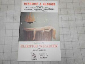 TSR D&D Eldritch Wizardry Supplement III 1976 True 1st Print!