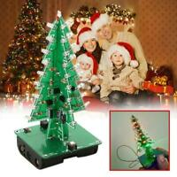 Colorful 3D Electronic Christmas Tree LED DIY Kit Xmas Home Decor