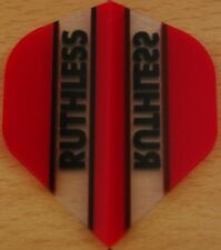 "1 Set (1X3) ""Red+Clear"" Ruthless Dart Flights"