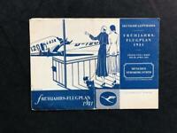 DEUTSCHE LUFTHANSA AIRLINE RARE ORIGINAL 1931 TIMETABLE POSTER BROCHURE BOOK
