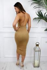 Vestiti da donna giallo senza maniche, taglia 42
