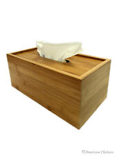 Solid Natural Bamboo Wooden Bath Kleenex Dispenser Tissue Box Cover Holder