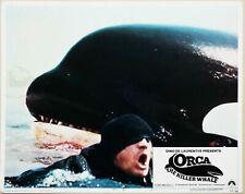 Orca The Killer Whale 1977 Richard Harris Original Us Lobby Card rare jaws rip