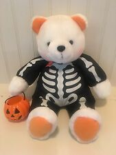 "💜 Hallmark Brandon Bear Glow In Dark Skeleton Costume Plush-14"" Halloween"