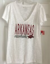 Arkansas Razorbacks Colosseum Womens Burnout V Neck T-Shirt Size XL NWT NEW