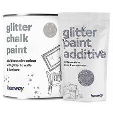 Hemway Silver Glitter Wall Paint Emulsion Furniture Ceilings Bedroom Wallpaper