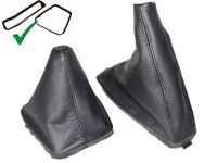 Gear & Handbrake Boot For BMW E46 1999-05 With Inner Plastic Frame Leather
