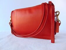 Vintage Coach Basic Shoulder Bag/ Clutch Red Leather Made in NYC, USA #066-7746