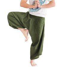 Hippie Japanese Style Harem Pants Unique Yoga Trousers Casual Summer Solid Green