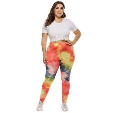 Women Colorful XX Large Print Yoga Fitness Gym Leggings Spandex