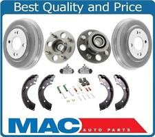 Rear Drums Hub Bearing Brake Shoes Cylinders Hardware Kit Honda Civic 96-00 ABS