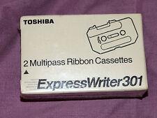 New Toshiba Express writer 301 Black E20301 type 2 - 2 Multipass cassettes