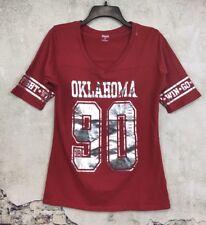 KA for Her Knight Oklahoma Sooners OU Size XL Juniors 15 Crimson Silver V-Neck