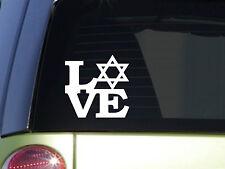 """Star of David Love 6"""" STICKER *F127* Israel DECAL jewish christian"""