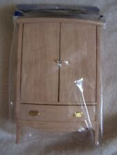 Dollhouse Miniature ArmoireWardrobe//Closet Unfinished doors open NEW IN BOX