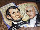 Vtg Paper Die-cuts Patriotic Presidents Abraham Lincoln James Madison Historical
