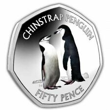 More details for chinstrap penguin 2019 50p cupro nickel coloured coin