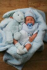 BUTTERFLY BABIES STUNNINGREBORN BOY BLUE SPANISH STRIPED  SAILOR ROMPER SOFIA