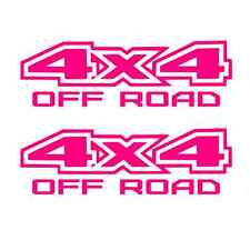 2 PINK 4x4 Off road Decal Sticker Ford GMC Chevy ram 1500 2500 f150 f250 Dodge