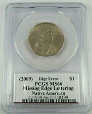 2009 Native American Dollar PCGS MS66 Missing Edge Lettering Moy Signature