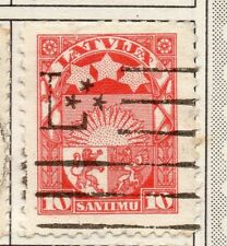 Latvia 1923 Early Issue Fine Used 10s. 182332