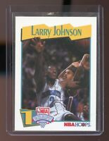 1991-92 Hoops #47 Larry Johnson Charlotte Hornets Rookie Card