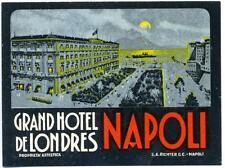 Gd. Hotel de Londres ~NAPOLI - NAPLES / ITALY~ Old RICHTER Luggage Label, c 1930