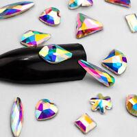Multi-style Abnormity Nail Art Rhinestones Glitter Gems 3D Tips DIY Decoration