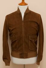 NEW Ralph Lauren RRL DOUBLE RL Deerskin Heavy Flight Leather Jacket S