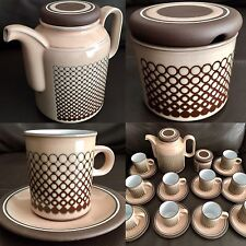"Fantastic 26 Piece Hornsea ""Coral"" Ironstone Coffee Set In Perfect Condition"