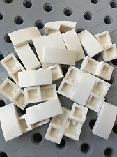 LEGO White Smooth Tile Plate With Bow 1X2X2/3 Friends Roof Floor Lot Of 24 New
