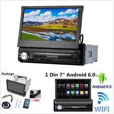 "7"" Android 6.0 Car Stereo GPS NAV Radio 1080P MP5 Video Player Bluetooth WiFi FM"
