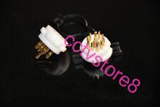 2pcs 9pin TEFLONS Tube Socket Machine Made Gold Pin for 12AX7 EL84 6922 6N11 New