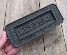 Vieux Reclaimed fonte Boîte aux lettres Plaque/Porte courrier Slot Working printemps Boîte aux lettres