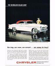 1955 Chrysler Windsor Deluxe Nassau Automobile Car Vtg Print Ad