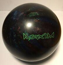 Ebonite Maxim Made In USA Bowling Ball Purple Blue Green Sparkle Swirl 12.5 Lb