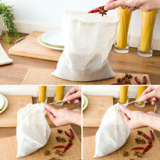 Reusable Cotton food filter bag NUT MILK MYLK SPROUTING JUICE MESH RAW FOOD SOUP