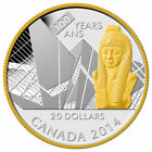 2014 $20 Fine Silver .9999 - 100th Anniversary of the Royal Ontario Museum Coin