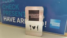 """""""10"""" American Express""""AMEX"""" Stainless Steel Clip Check Restaurant Bar Presenters"""